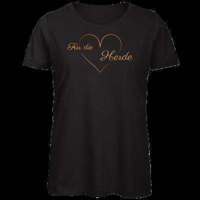 Motiv: Organic Lady T-Shirt - Für die Herde - Herz