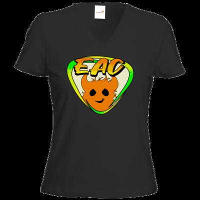 Motiv: T-Shirt Damen V-Neck Classic - EAC-Logo
