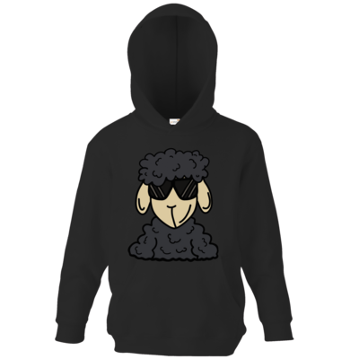 Motiv: Kids Hooded Sweat - ZOS Schaf mit Sonnenbrille grau
