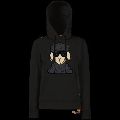 Motiv: Hoodie Damen Classic - ZOS Schaf mit Sonnenbrille grau