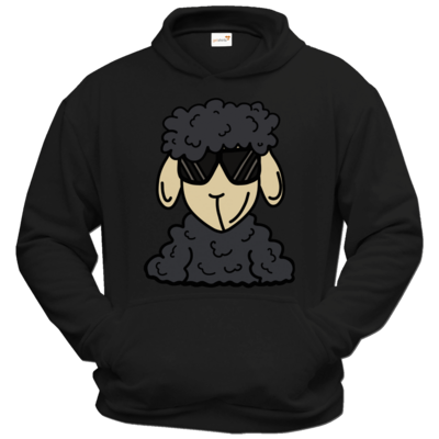 Motiv: Hoodie Classic - ZOS Schaf mit Sonnenbrille grau