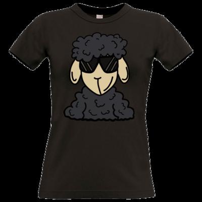 Motiv: T-Shirt Damen Premium FAIR WEAR - ZOS Schaf mit Sonnenbrille grau