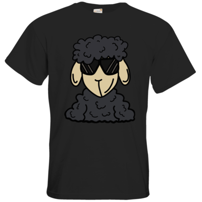 Motiv: T-Shirt Premium FAIR WEAR - ZOS Schaf mit Sonnenbrille grau