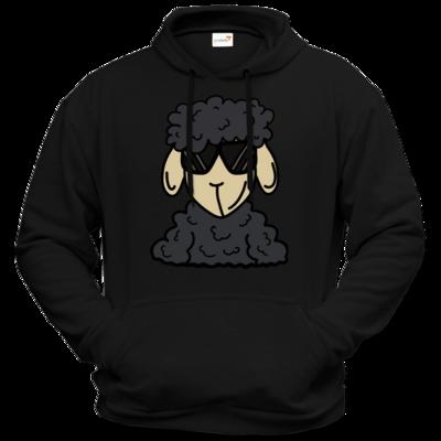 Motiv: Hoodie Premium FAIR WEAR - ZOS Schaf mit Sonnenbrille grau