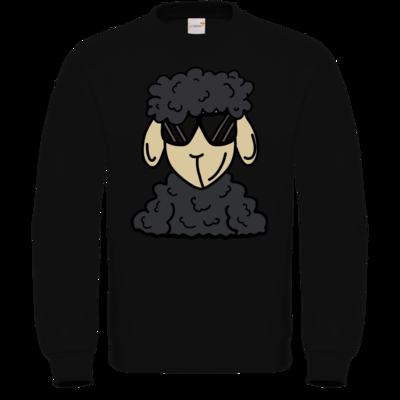 Motiv: Sweatshirt FAIR WEAR - ZOS Schaf mit Sonnenbrille grau