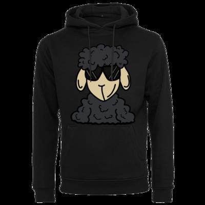 Motiv: Heavy Hoodie - ZOS Schaf mit Sonnenbrille grau