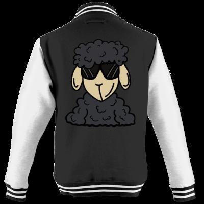 Motiv: College Jacke - ZOS Schaf mit Sonnenbrille grau