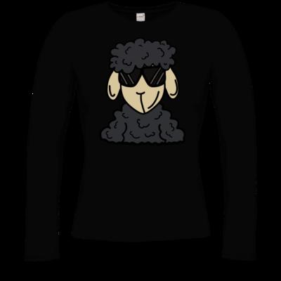 Motiv: Longsleeve Damen Organic - ZOS Schaf mit Sonnenbrille grau