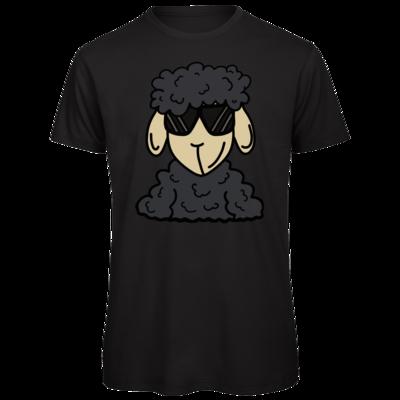 Motiv: Organic T-Shirt - ZOS Schaf mit Sonnenbrille grau