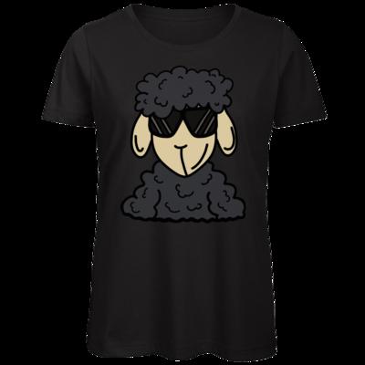 Motiv: Organic Lady T-Shirt - ZOS Schaf mit Sonnenbrille grau