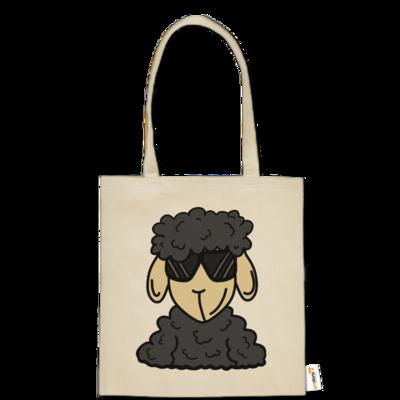 Motiv: Baumwolltasche - ZOS Schaf mit Sonnenbrille grau