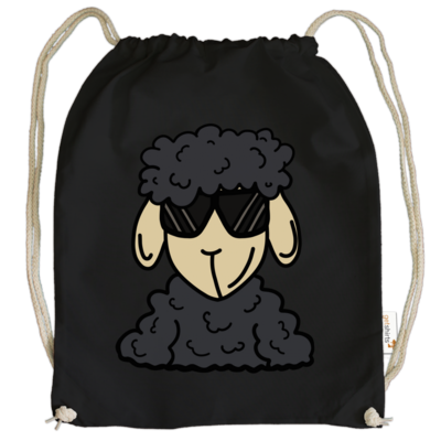 Motiv: Cotton Gymsac - ZOS Schaf mit Sonnenbrille grau