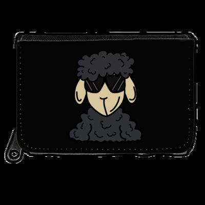 Motiv: Geldboerse - ZOS Schaf mit Sonnenbrille grau