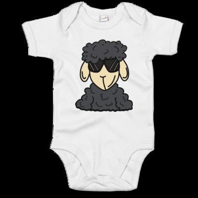 Motiv: Baby Body Organic - ZOS Schaf mit Sonnenbrille grau