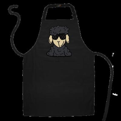 Motiv: Schürze - ZOS Schaf mit Sonnenbrille grau