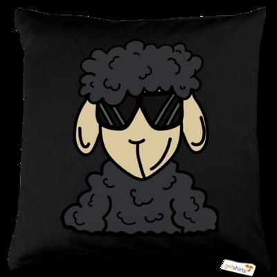 Motiv: Kissen Baumwolle - ZOS Schaf mit Sonnenbrille grau