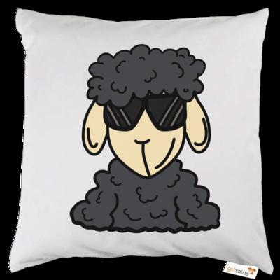 Motiv: Kissen - ZOS Schaf mit Sonnenbrille grau