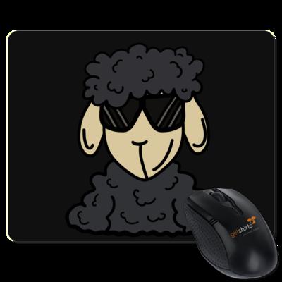 Motiv: Mousepad Textil - ZOS Schaf mit Sonnenbrille grau