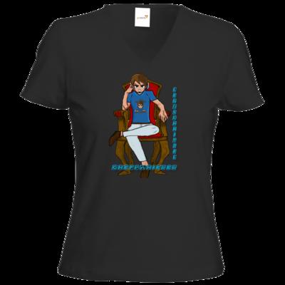 Motiv: T-Shirts Damen V-Neck FAIR WEAR - Chefpanierer