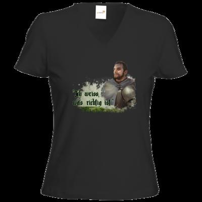 Motiv: T-Shirts Damen V-Neck FAIR WEAR - HeXXen - Balthasar