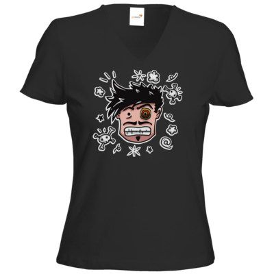 Motiv: T-Shirt Damen V-Neck Classic - Teilzeit-Salzig