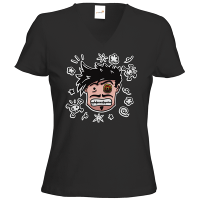Motiv: T-Shirts Damen V-Neck FAIR WEAR - Teilzeit-Salzig