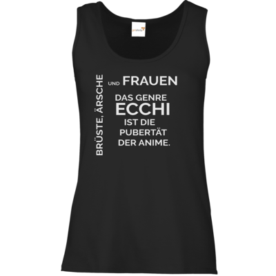 Motiv: Tank Top Damen Classic - ECCHI ist Pubertät
