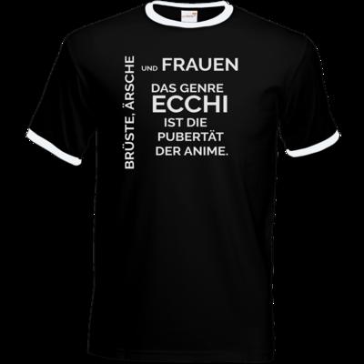 Motiv: T-Shirt Ringer - ECCHI ist Pubertät