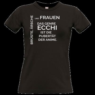 Motiv: T-Shirt Damen Premium FAIR WEAR - ECCHI ist Pubertät