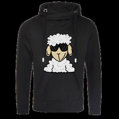 Motiv: Cross Neck Hoodie - ZOS Schaf mit Sonnenbrille