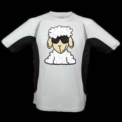 Motiv: Laufshirt Running T - ZOS Schaf mit Sonnenbrille