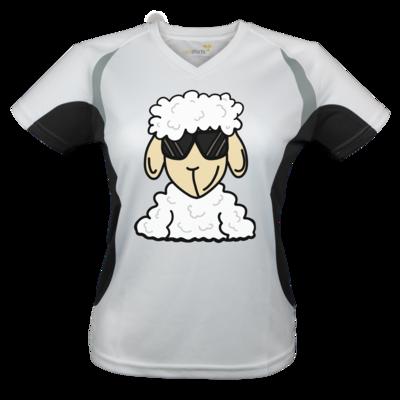 Motiv: Laufshirt Lady Running T - ZOS Schaf mit Sonnenbrille