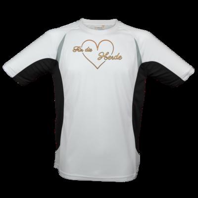 Motiv: Laufshirt Running T - Für die Herde - Herz