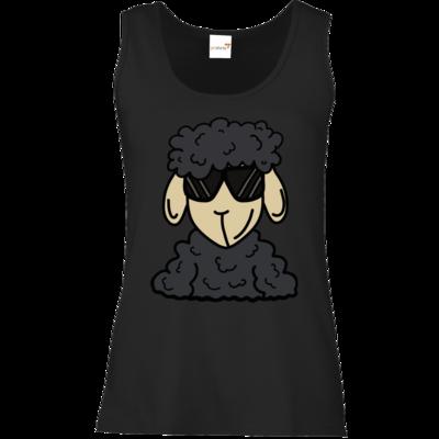 Motiv: Tank Top Damen Classic - ZOS Schaf mit Sonnenbrille grau