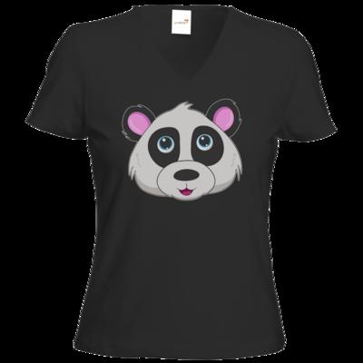 Motiv: T-Shirt Damen V-Neck Classic - Panda