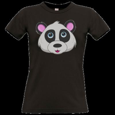 Motiv: T-Shirt Damen Premium FAIR WEAR - Panda