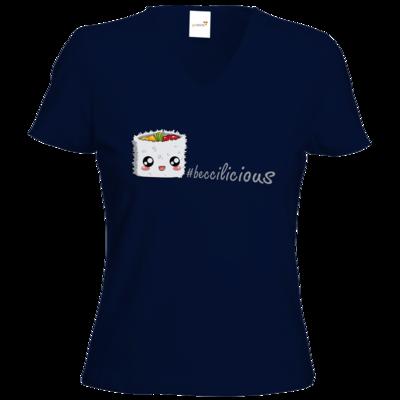 Motiv: T-Shirts Damen V-Neck FAIR WEAR - beccilicious