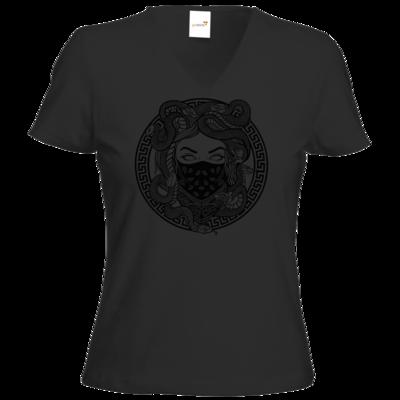 Motiv: T-Shirt Damen V-Neck Classic - GANG - Black