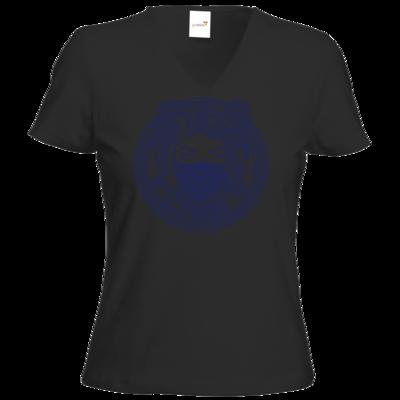 Motiv: T-Shirt Damen V-Neck Classic - GANG - Marine