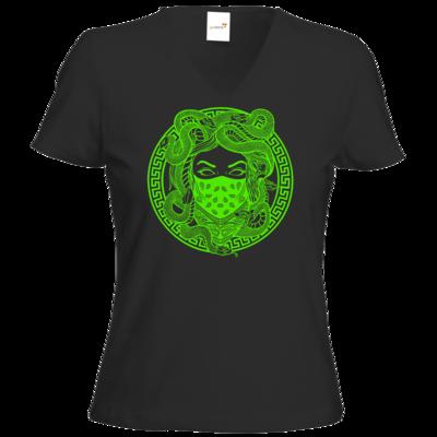 Motiv: T-Shirt Damen V-Neck Classic - GANG - Neon