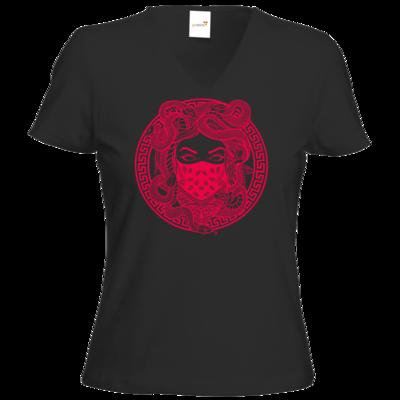 Motiv: T-Shirt Damen V-Neck Classic - GANG - Pink
