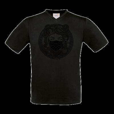 Motiv: T-Shirt V-Neck FAIR WEAR - GANG - Black