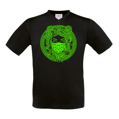 Motiv: T-Shirt V-Neck FAIR WEAR - GANG - Neon