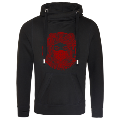 Motiv: Cross Neck Hoodie - GANG - Red
