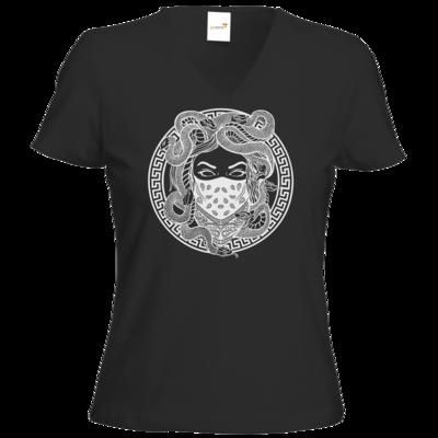 Motiv: T-Shirt Damen V-Neck Classic - GANG - White