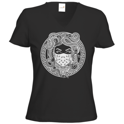 Motiv: T-Shirts Damen V-Neck FAIR WEAR - GANG - White