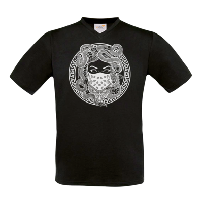 Motiv: T-Shirt V-Neck FAIR WEAR - GANG - White