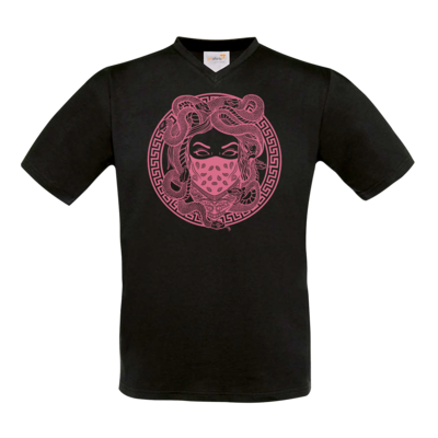Motiv: T-Shirt V-Neck FAIR WEAR - GANG - Rosa