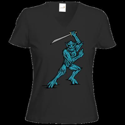 Motiv: T-Shirt Damen V-Neck Classic - Sword