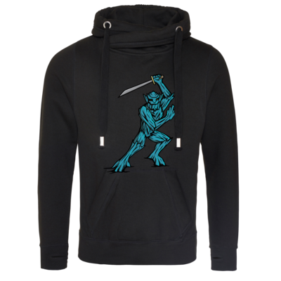 Motiv: Cross Neck Hoodie - Sword